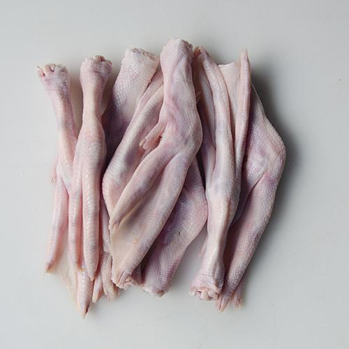 Raw pet food, duck feet