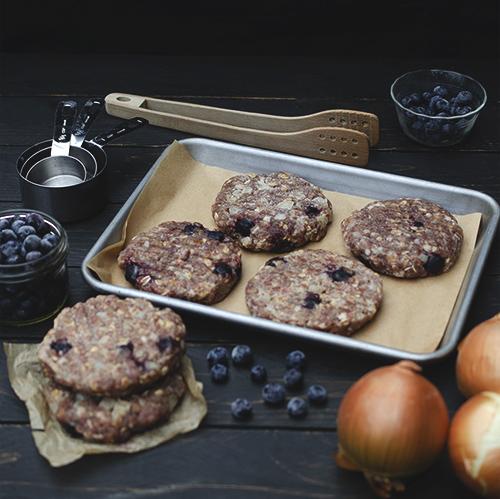 Blueberry Duck Burger Patties