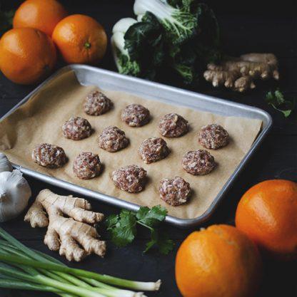 Teriyaki Duck Meatballs
